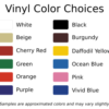 Decal Depot Color Choices