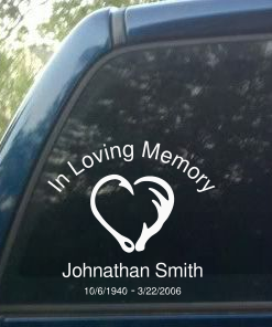 Image of personalized decal sticker for hunter and fisherman